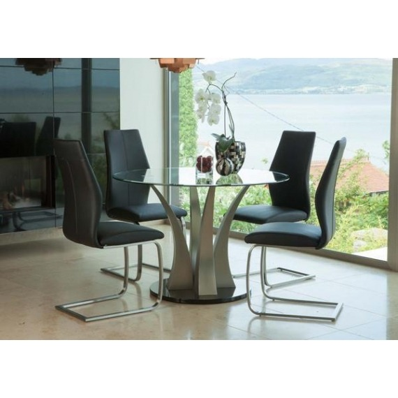 Kal Round Glass Dining Set