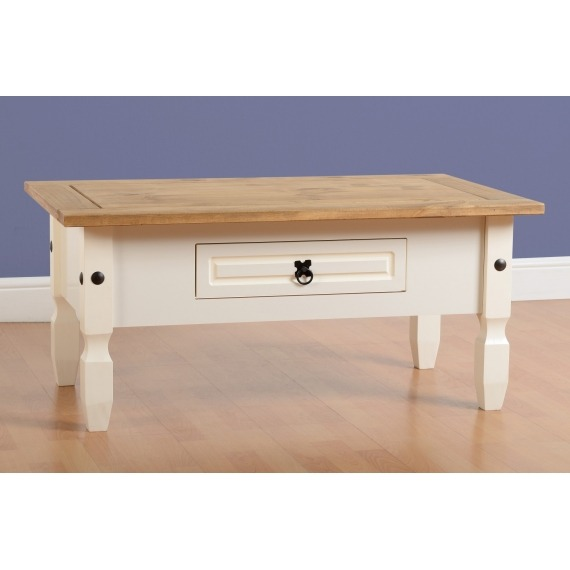 Cortana cream painted rabbettes furniture interiors for Large cream coffee table