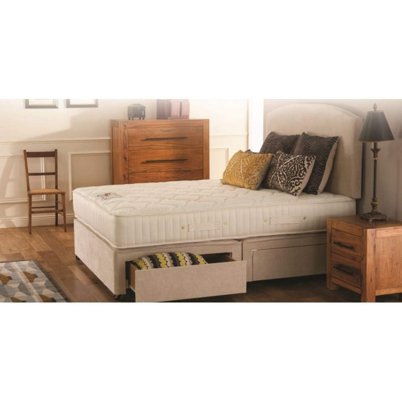 Respa platform top divan base with drawers for Divan with drawers