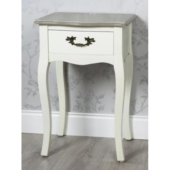 Juliette Cream & Grey Side Table