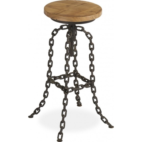 Bar Stool with Chain Leg