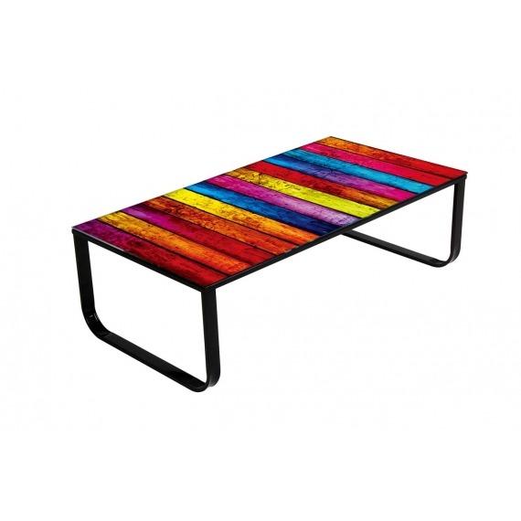 Vintage Chic Rainbow Coffee Table