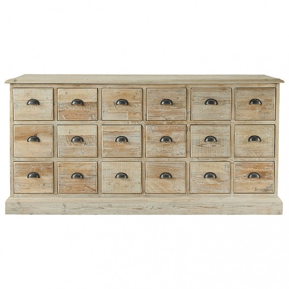 Distressed Fir 18 Drawer Sideboard