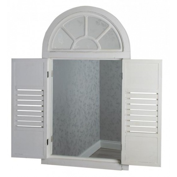 Palladium Window Mirror with Shutters