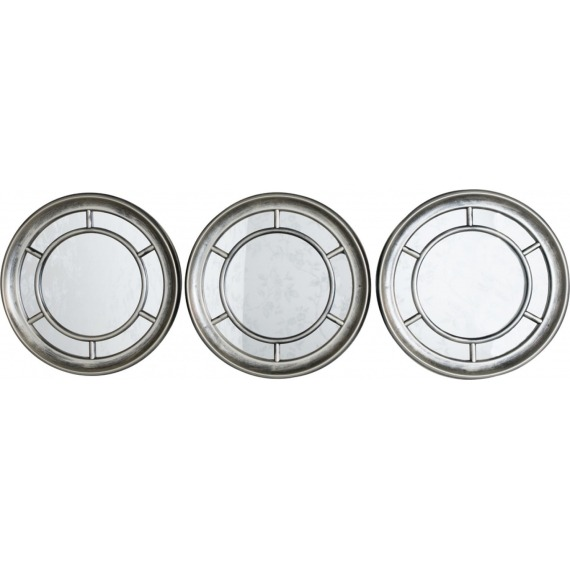 Trio of Circular Mirrors
