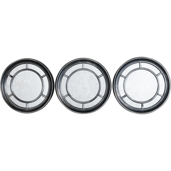 Trio of Circular Mirrors