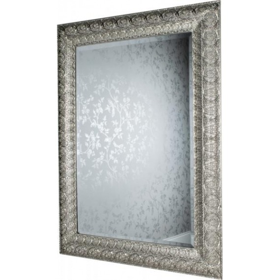 Metal Embossed Rectangle Mirror