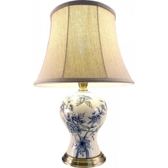Olivia Patterned Ceramic Lamp