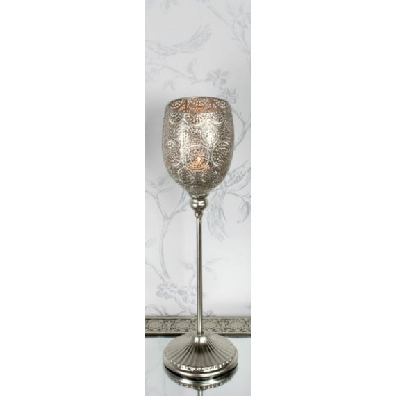 Metal Embossed Small Candle Holder
