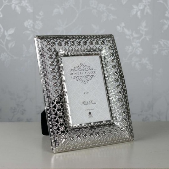 Metal Embossed 4x6 Picture Frame