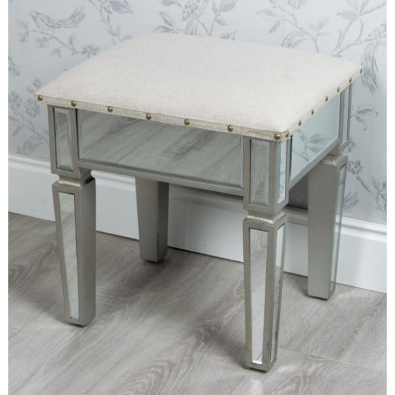 Mirrored Dressing Table Stool