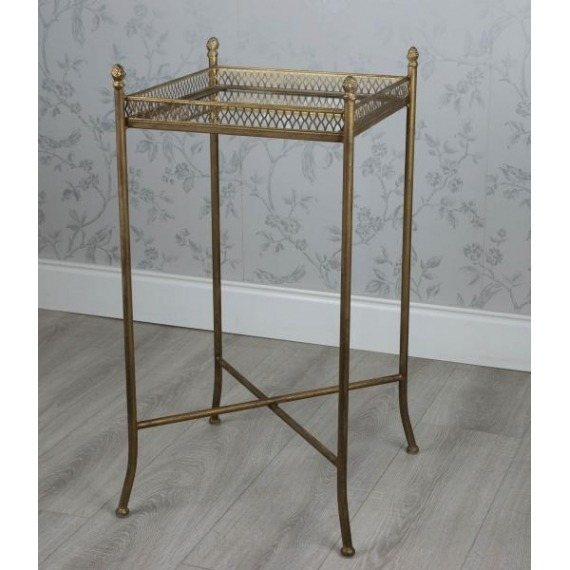 Idaho Mirror Top Square Side Table