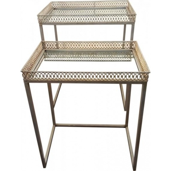 Gatsby Silver Nesting Tables