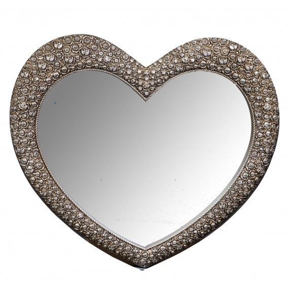 Small Heart Mirror Champagne