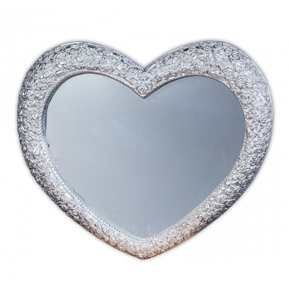 Small Heart Mirror Silver