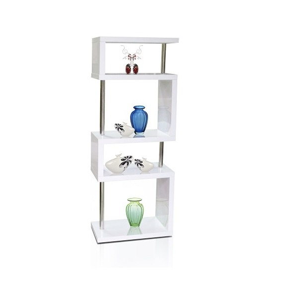 High Gloss 5 Shelf Unit/Bookcase