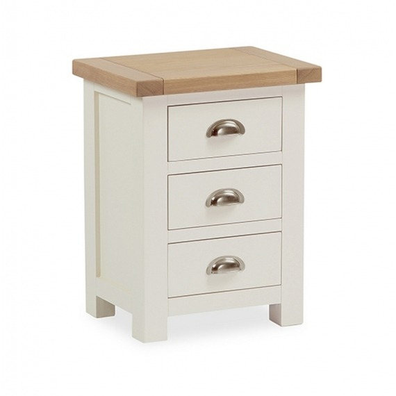Cream Solid Oak bedside locker