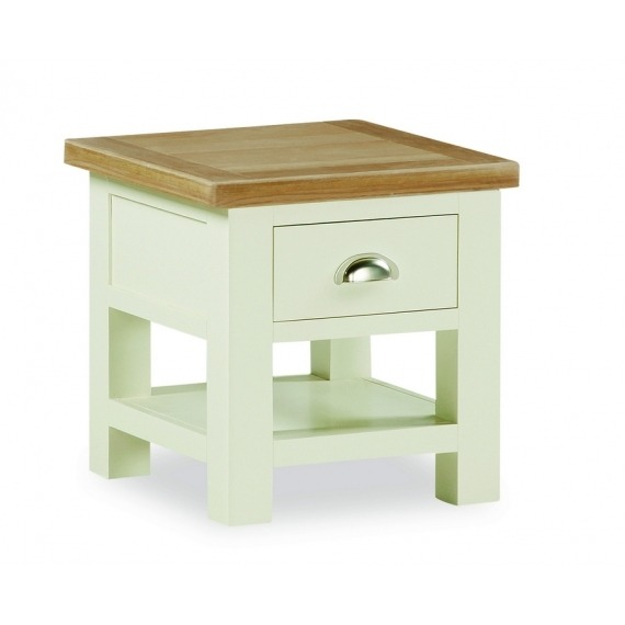 Cream solid oak lamp table aloadofball Images