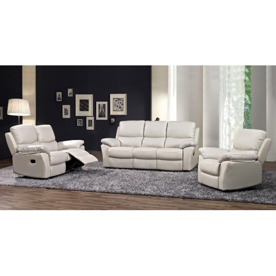 Rossi Leather 3 Seater Recliner
