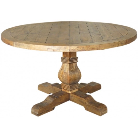 Camrose Reclaimed Pine Round Dining Table