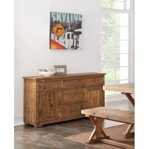 Camrose Reclaimed Pine Large Sideboard