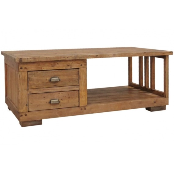 Camrose Reclaimed Pine Coffee Table with Drawers