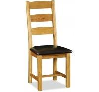 Sally Oak Ladder-Back Dining Chair