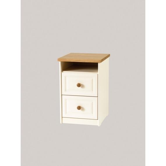 Zena Bedside Locker (2 Drawer 1 Shelf)
