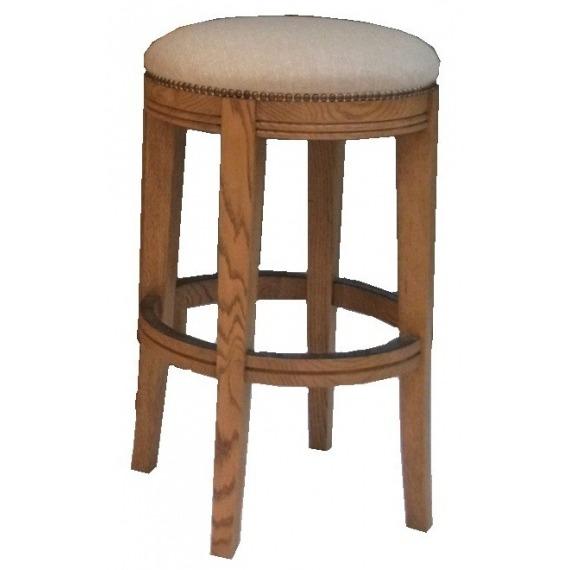 Oak Upholstered Bar Stool