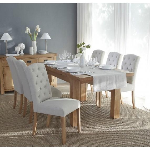 Stanza Fabric Button Back Chair