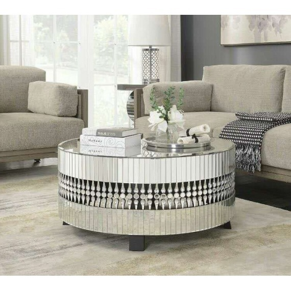 Mirrored Circle Coffee Table: Round Mirrored Coffee Table