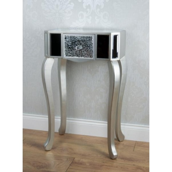 Mirrored Mosaic Accent Table