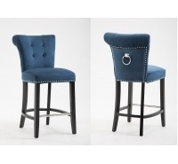 Skyline Velvet Bar Stool with Knocker