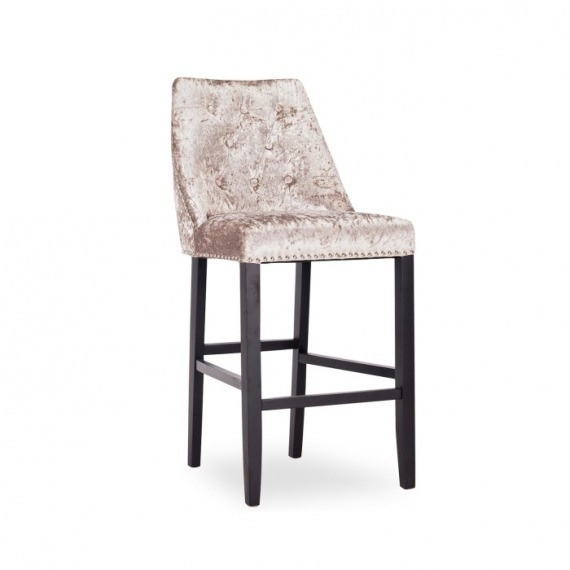Oak Upholstered Bar Stool