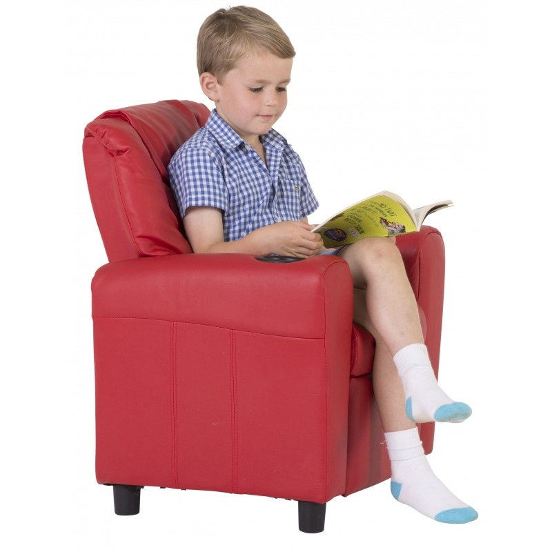 Kids Recliner With Cup Holder, Child Recliner Chair With Cup Holder