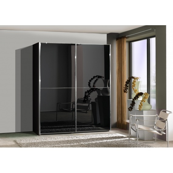 Manhattan Glass Sliding Wardrobe 200cm