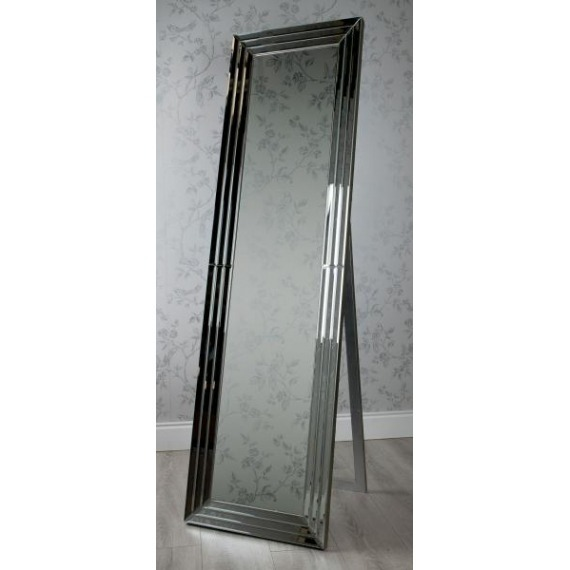 Mirrored Glass Full Length Cheval Mirror