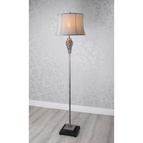 Roxy Floor Lamp (Silver & Grey) 168cm
