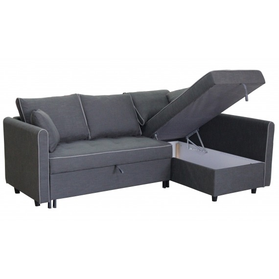 Corner Sofa Bed with Chaise Storage