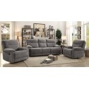 Tweed 2 Seater Recliner with Drinks Console & Storage