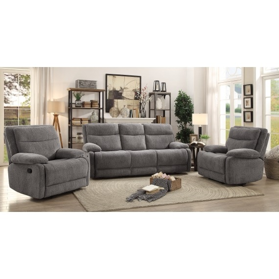 Tweed 3 Seater Recliner Sofa