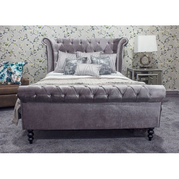Althea Velvet Winged Bed