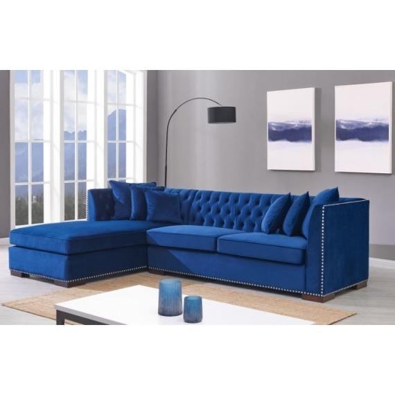 Darby Blue Velvet Corner Sofa