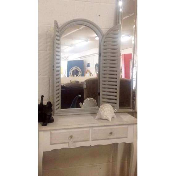Window Mirror with Shutters