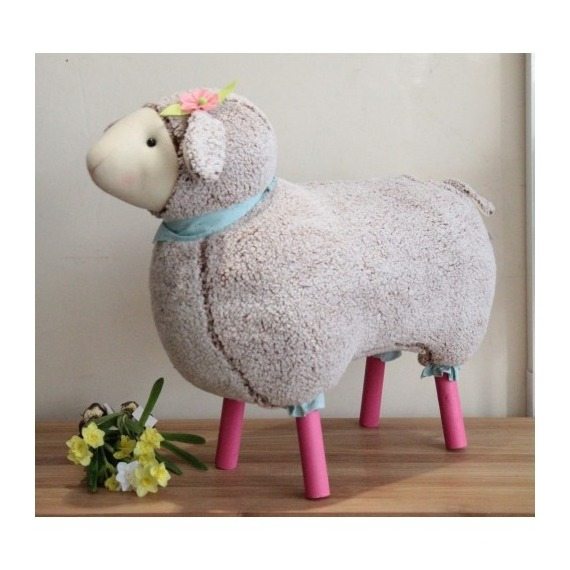 Large Cuddly Sheep Floor Stool