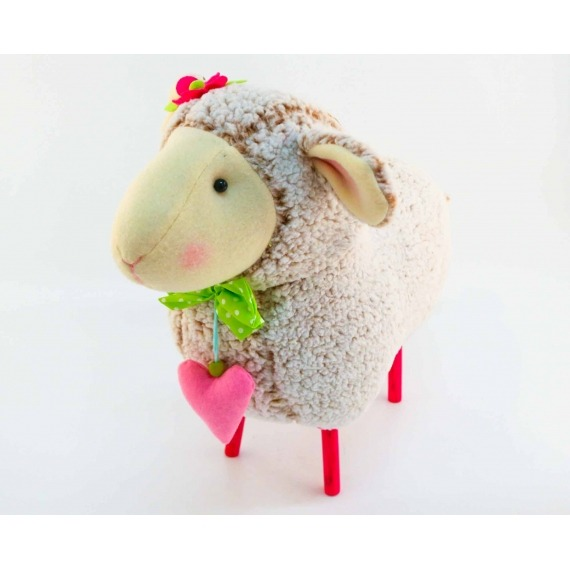 Small Cuddly Sheep Floor Stool