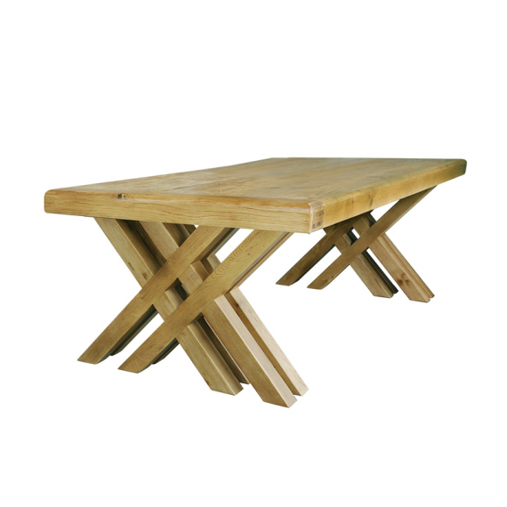 Cologne 2.7m Dining Cross Leg Table