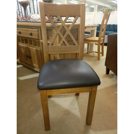 Cologne Dining Chair (Faux Leather Seat)