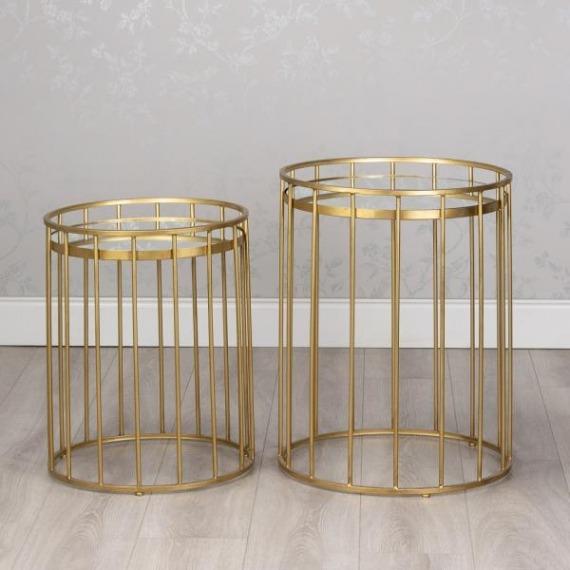 Idaho Barrel Style Set of 2 Side Tables