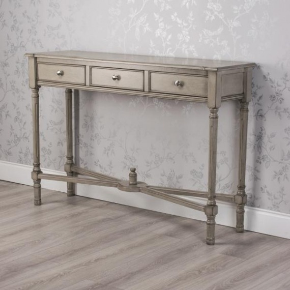 Pearl Large 3 Drawer Console Table